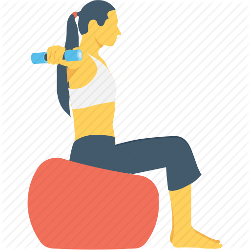 picture black and white library dumbbell clipart girl workout #78429650