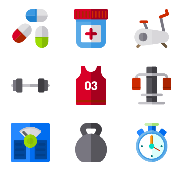 clipart royalty free library Weightlifting vector. Gym equipment icons free