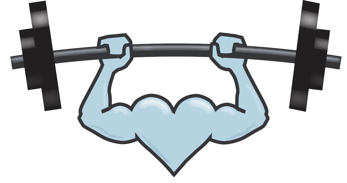 clipart royalty free Silver heart fitness for. Weights drawing bent barbell