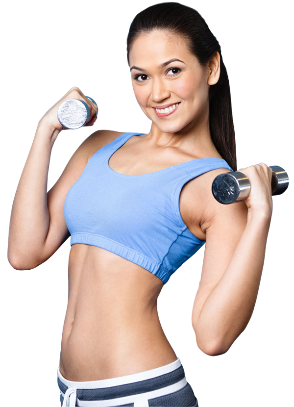 clipart transparent download Fitness sport woman smiling happy with dumbbell