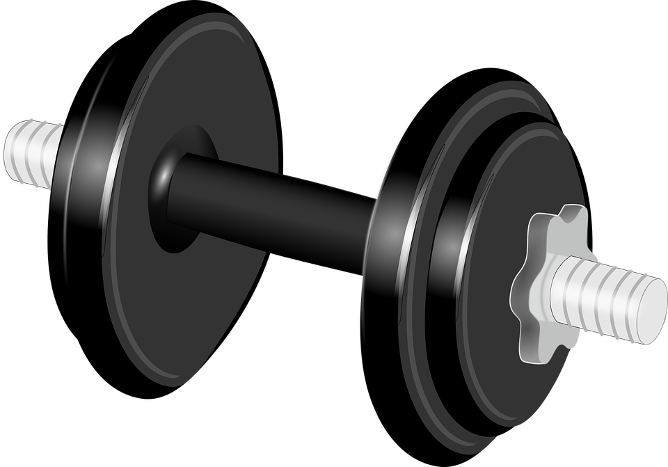 png black and white library Dumbbells clipart kid. Sports summer camps in.