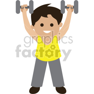 vector freeuse Dumbbells clipart kid. Graphics factory new clip.
