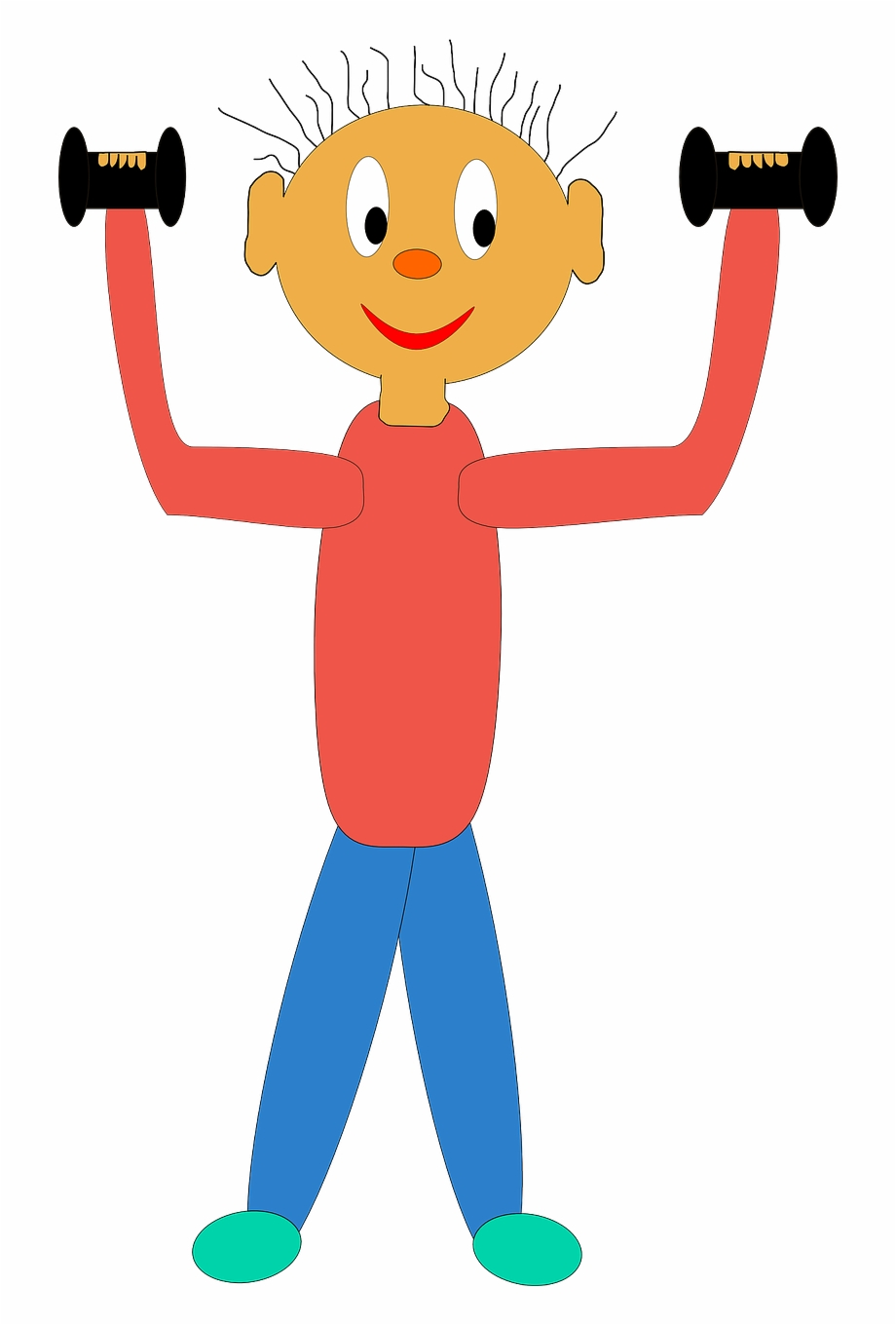 graphic royalty free download Dumbbells clipart kid. Exercising fitness png image.