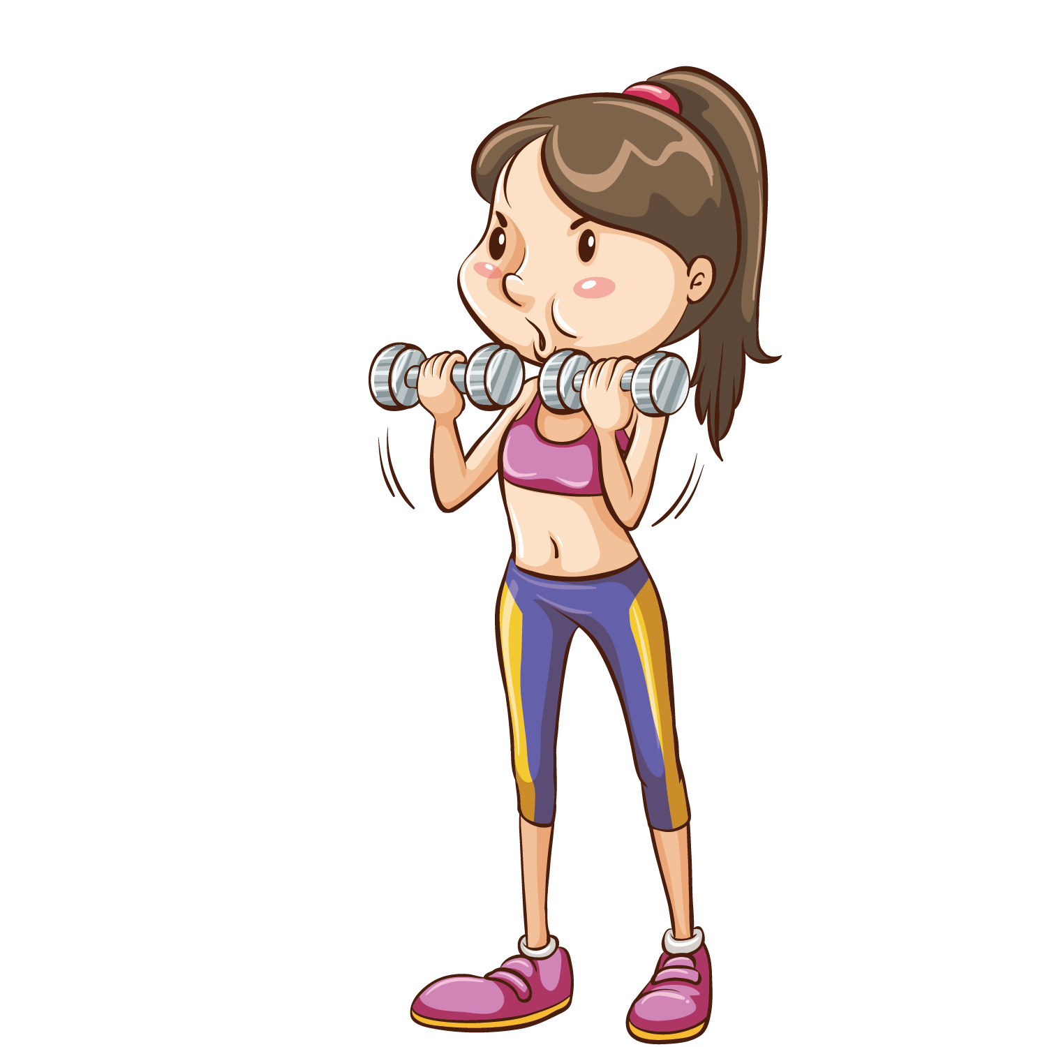 graphic stock Transparent free for . Dumbbells clipart kid.