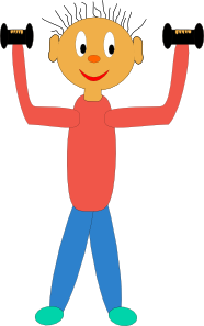png transparent download Dumbbells clipart kid. Exercising with clip art.