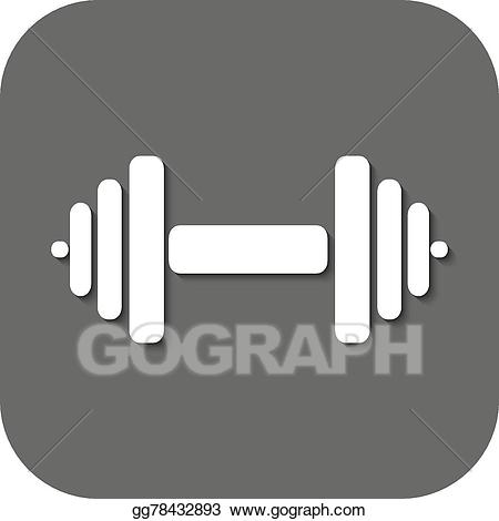 svg transparent download Vector the dumbbell icon. Dumbbells clipart symbol.