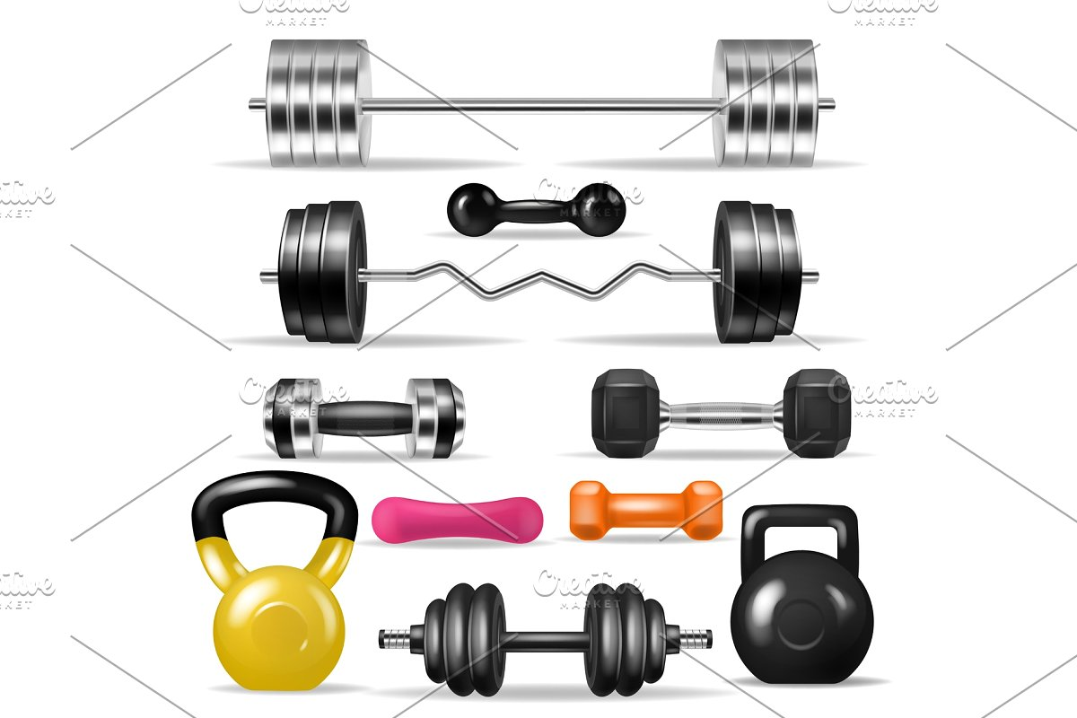 transparent library Workout vector fitness. Dumbbell gym weight