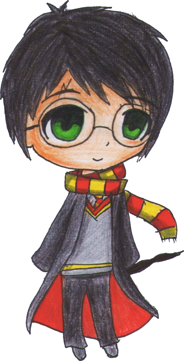 graphic black and white stock Harry Potter Chibi by cacoxima on DeviantArt