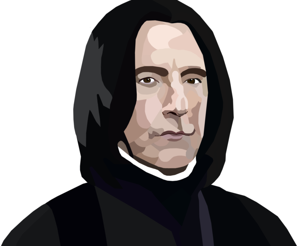 vector free stock Severus Snape Digital Painting by whovianpoprocks on DeviantArt