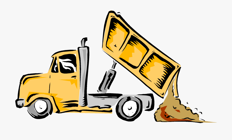 clip art black and white library Dump clipart. Download truck garbage .