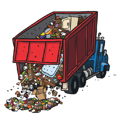 vector library library Trash clip art library. Dump clipart.
