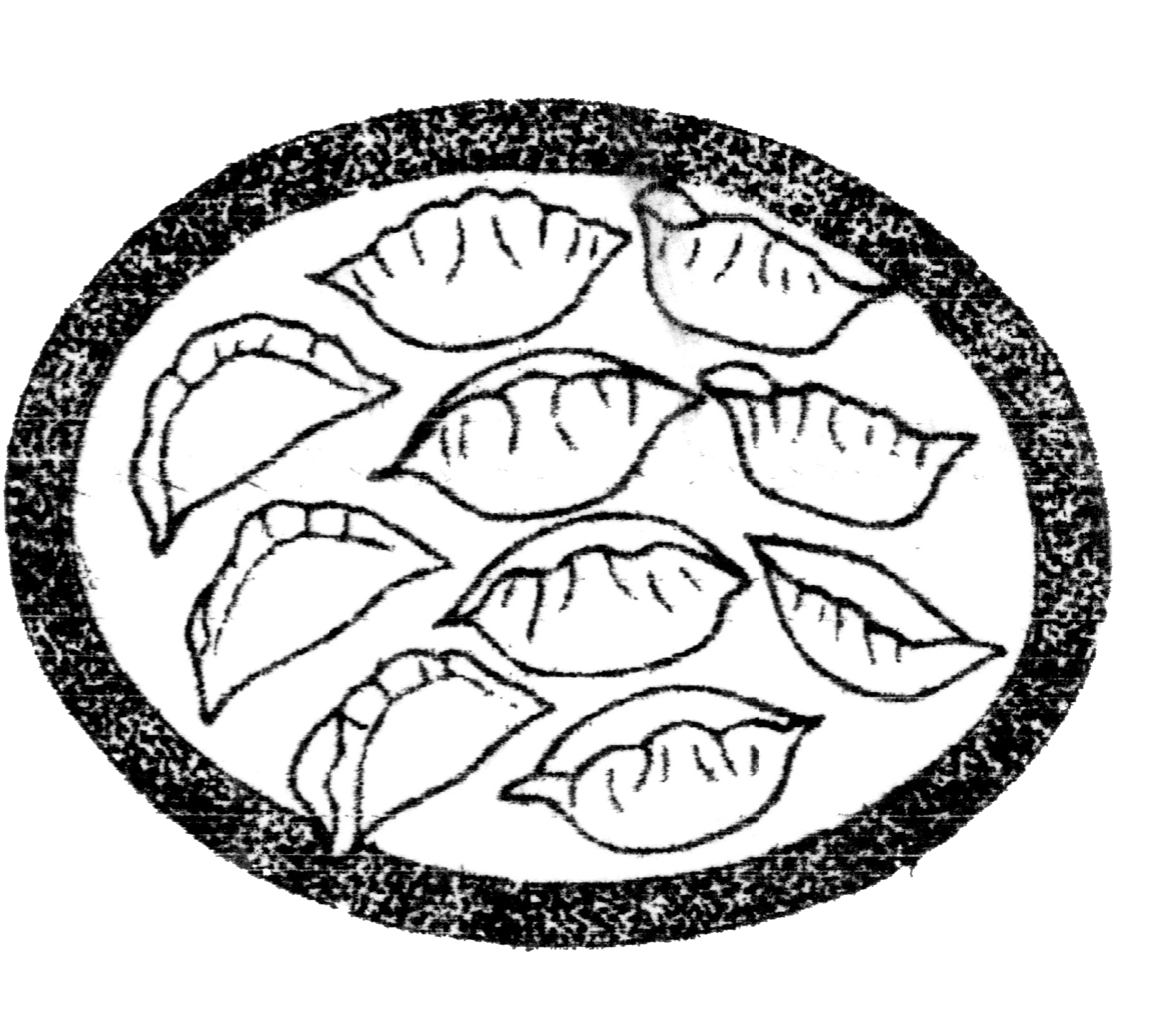 jpg black and white Dumpling Drawing at GetDrawings