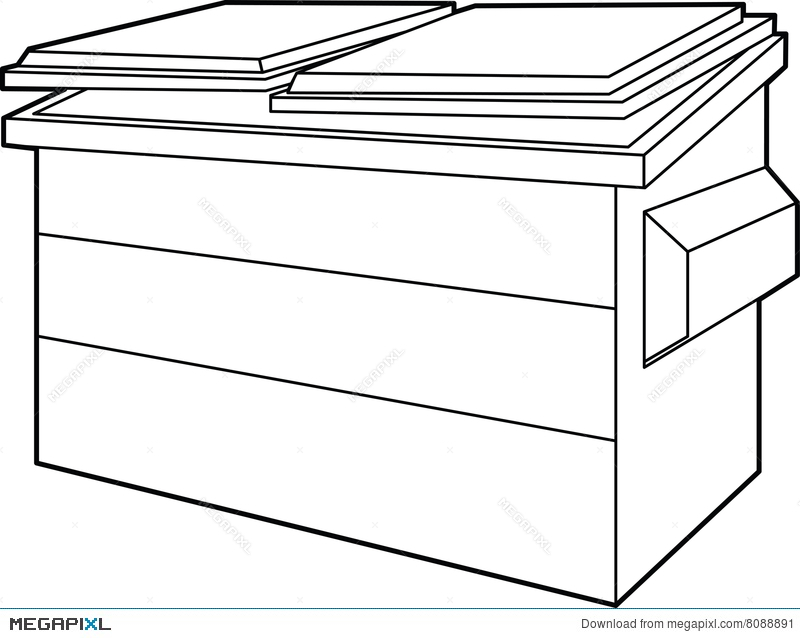 svg royalty free Dumpster drawing. At paintingvalley com explore
