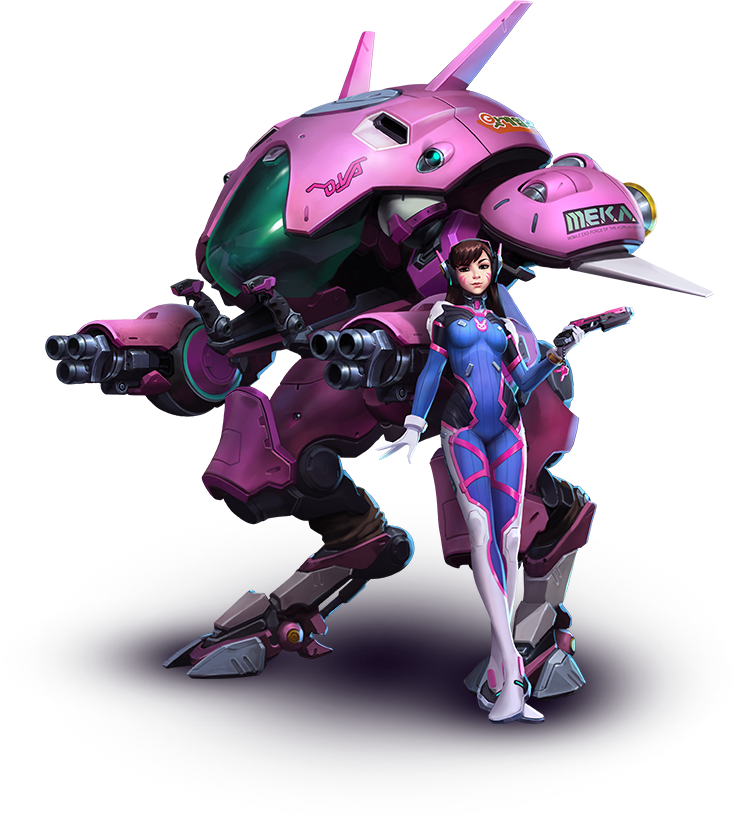 graphic black and white download d.va drawing mech #112504000