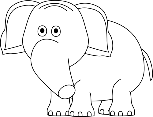 clip art royalty free Elephant clip art image. Elephants clipart black and white