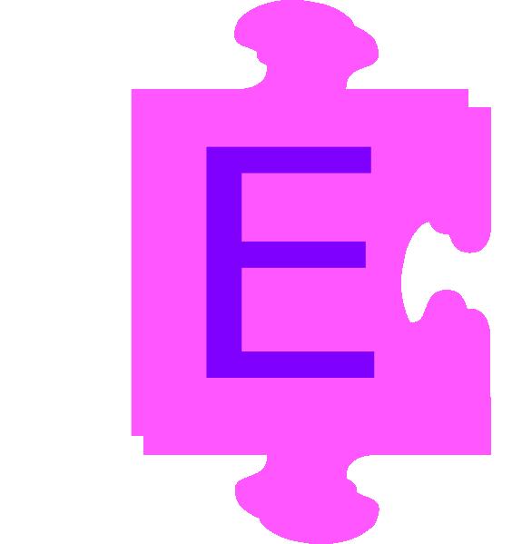 vector freeuse Letter E Inside Puzzle Piece Clip Art at Clker
