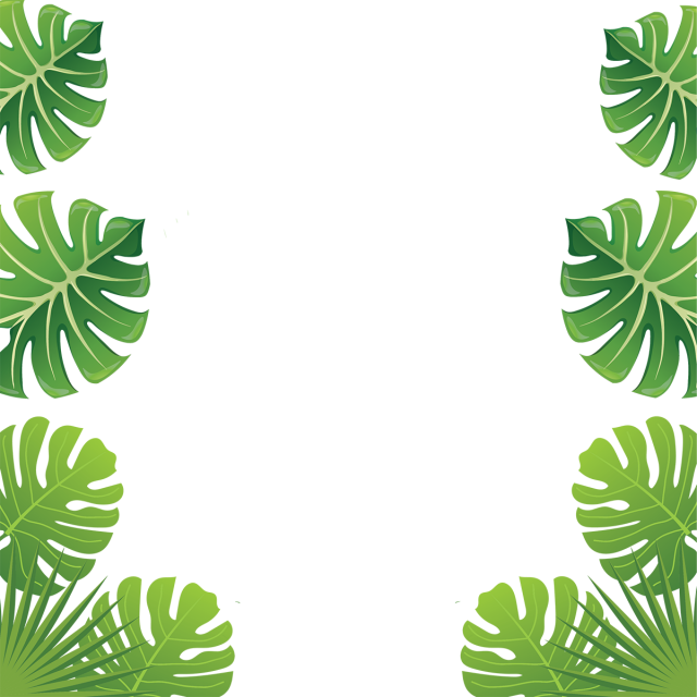 svg royalty free library Aloha Tropical Leaf Flowers