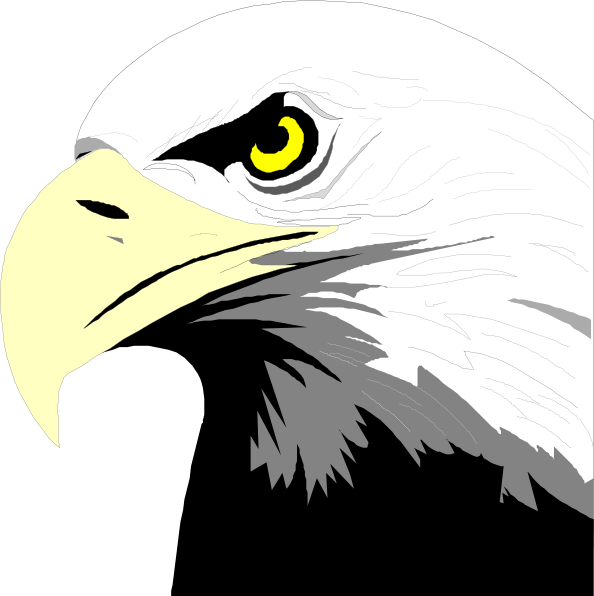 clip art black and white stock Eagle head clipart. Image of clipartoons