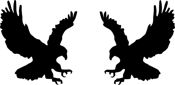 banner freeuse stock Eagles clipart. Fighting clip art at.