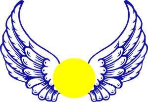 vector freeuse library Blue Eagle Wing With Softball Clip Art at Clker