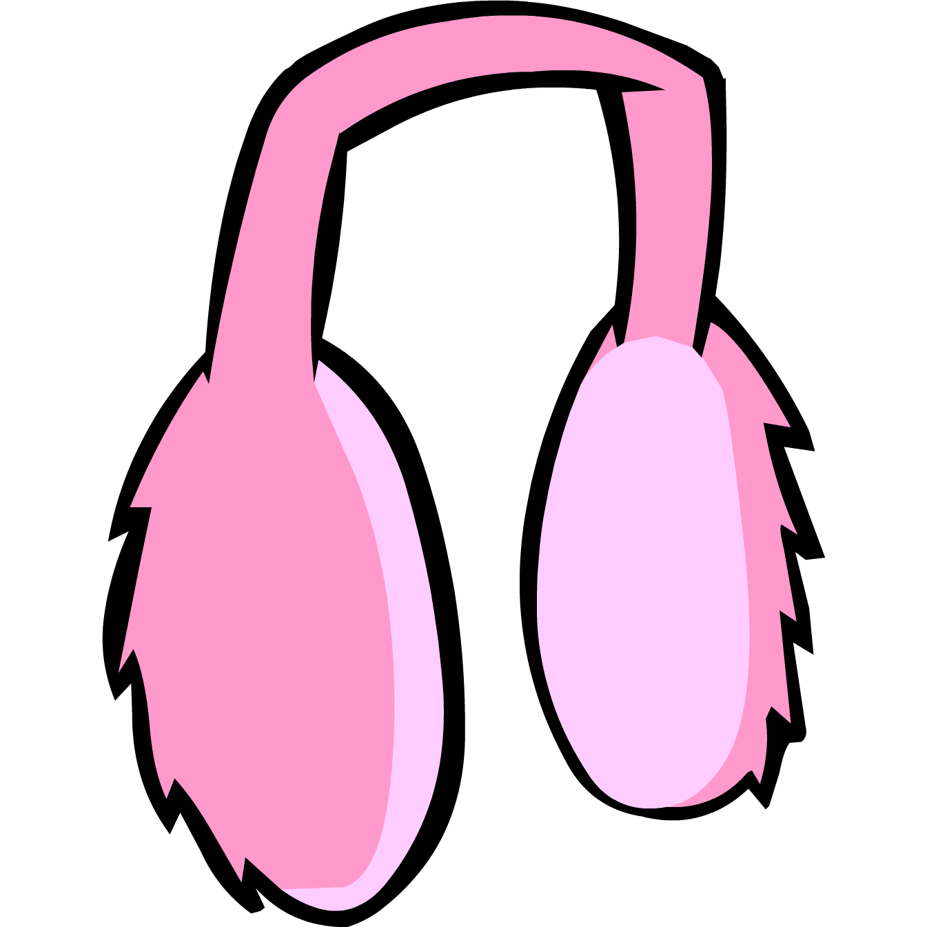 graphic black and white library Pink Earmuffs