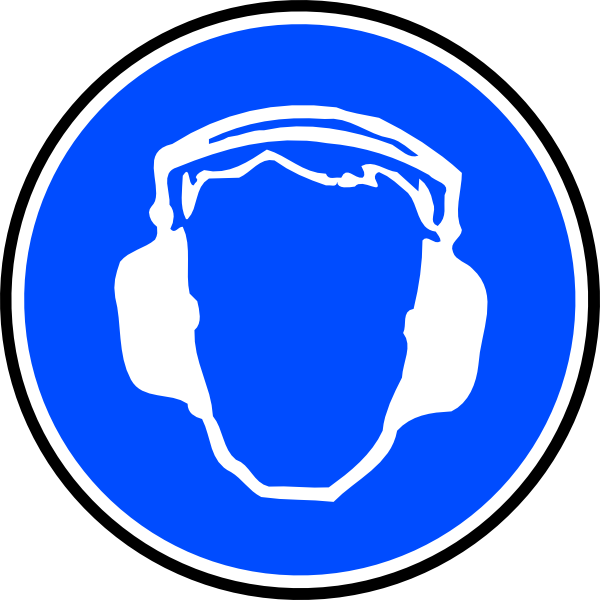 clip freeuse library Mandatory Ear Protection Clip Art at Clker
