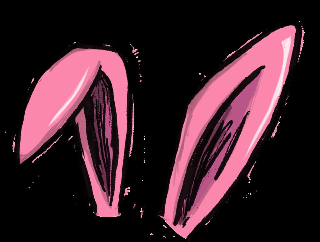 png transparent stock Ear transparent pink bunny. Bunnyears ears rabbit ftestickersfreetoe