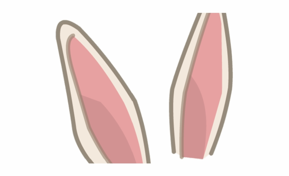 vector royalty free library Ear transparent pink bunny. Background ears free png