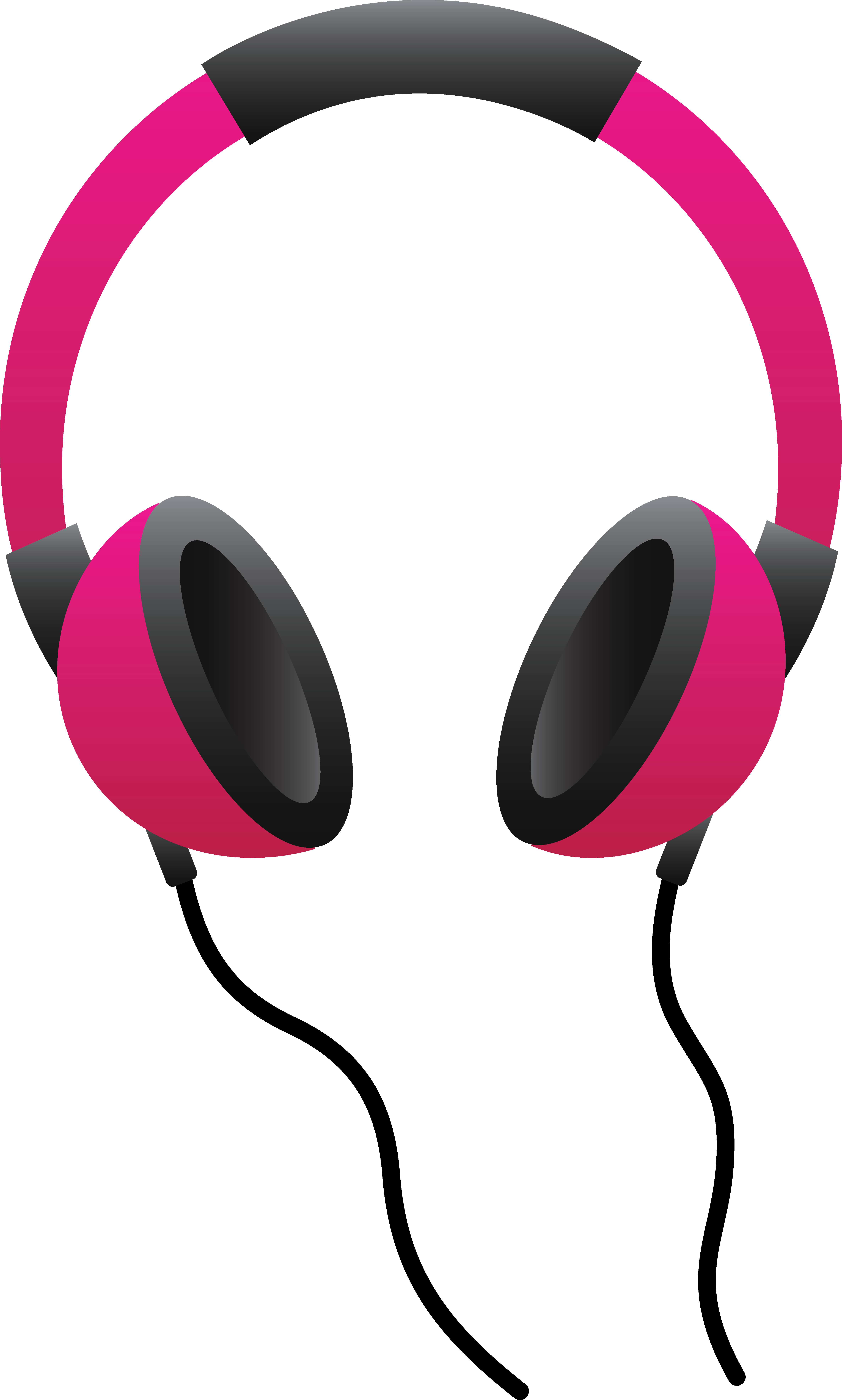 vector library stock Headphones clip art free. Earbuds clipart