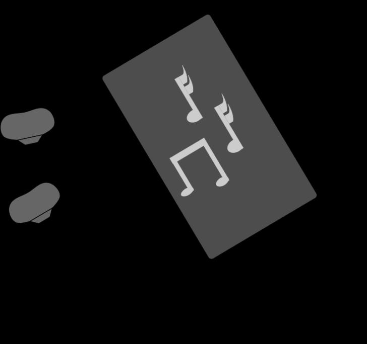 graphic Sumptuous olivar design cilpart. Earbuds clipart