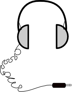 svg library download Headphones simple clip art. Earbuds clipart.