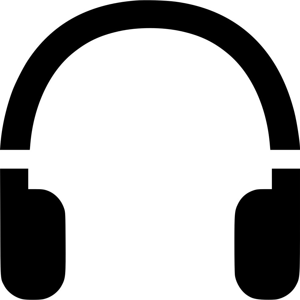 jpg black and white stock Earphone Earpiece Earmuff Headset Earbud Headphones Svg Png Icon