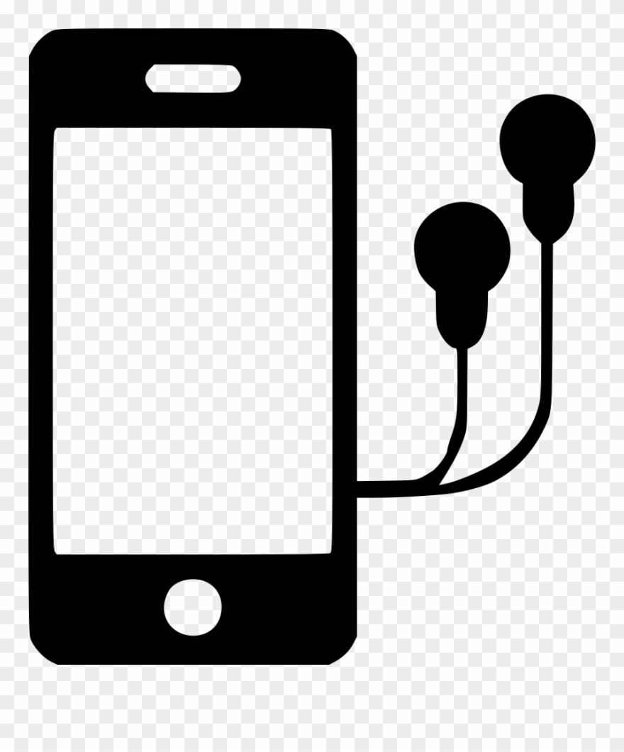 banner royalty free Earbuds clipart headphone apple. Iphone with headphones