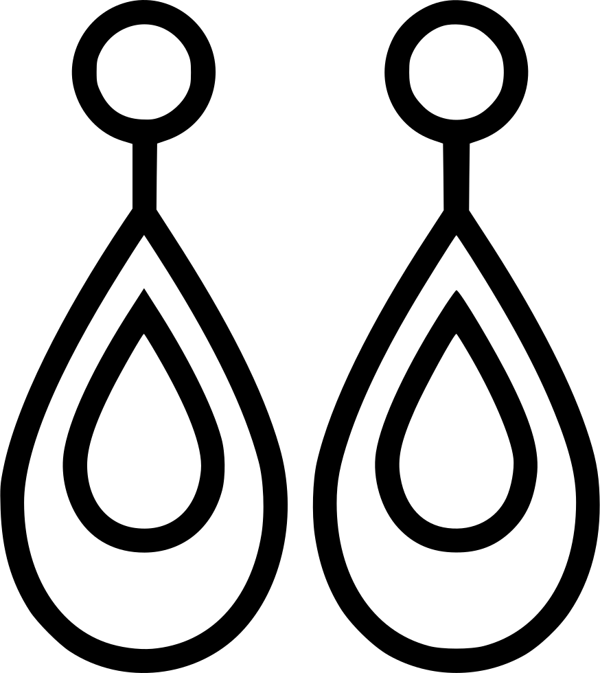png black and white Earring Accessory Fashion Jewelry Svg Png Icon Free Download