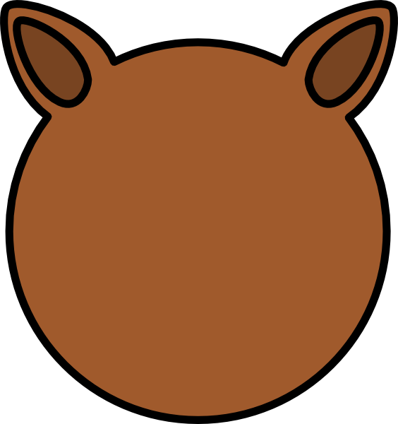svg library download Animal ears clipart.  collection of lion