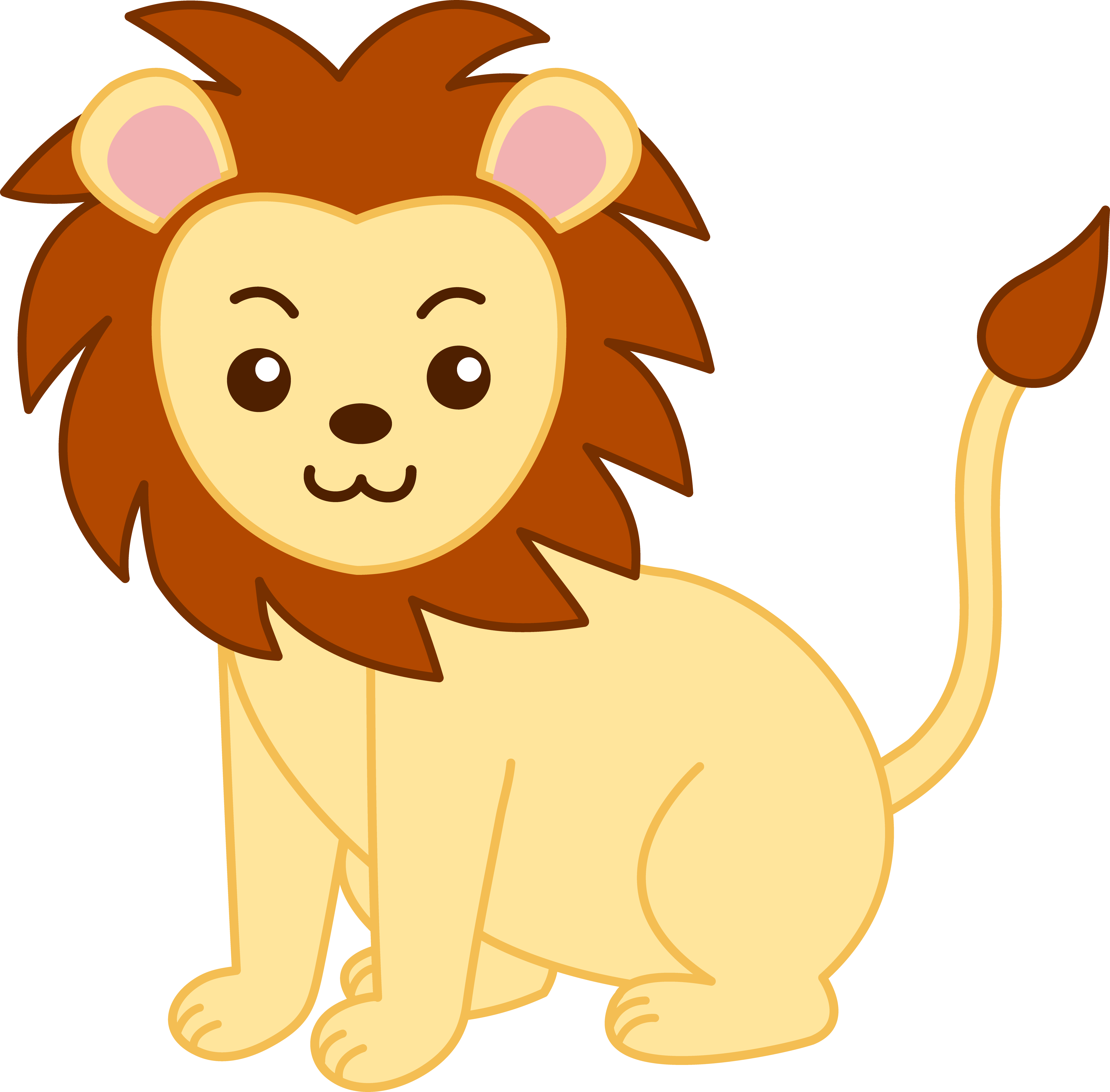 royalty free stock Cute cartoon animals little. March clipart lion lamb.