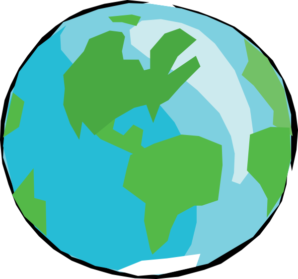 clip art free stock Earth clipart. With no outlines clip