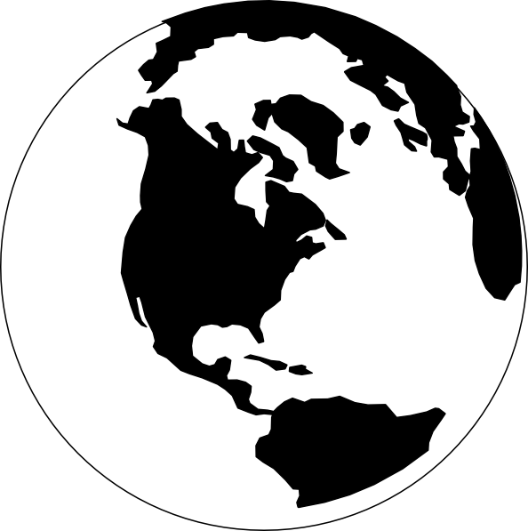 clip black and white download Earth Map Black And White Clipart