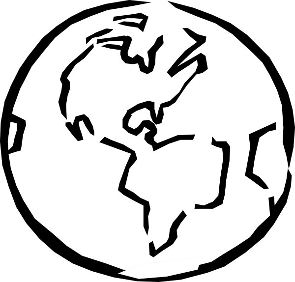 png freeuse library Earth panda free earthscienceclipartblackandwhite. Science clipart black and white