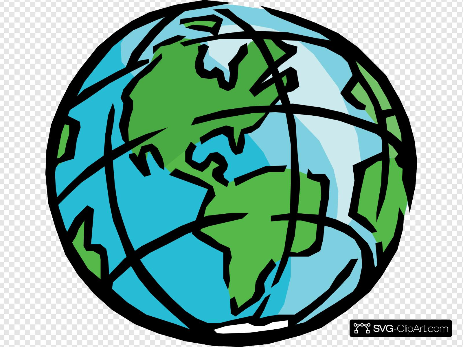 banner free library Earth svg clip art. Icon and clipart