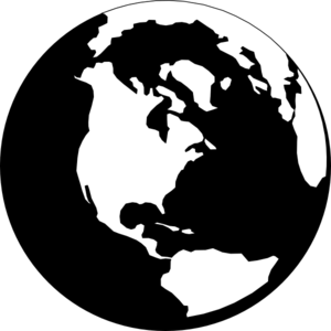 svg black and white Earth svg clip art. Png for web download