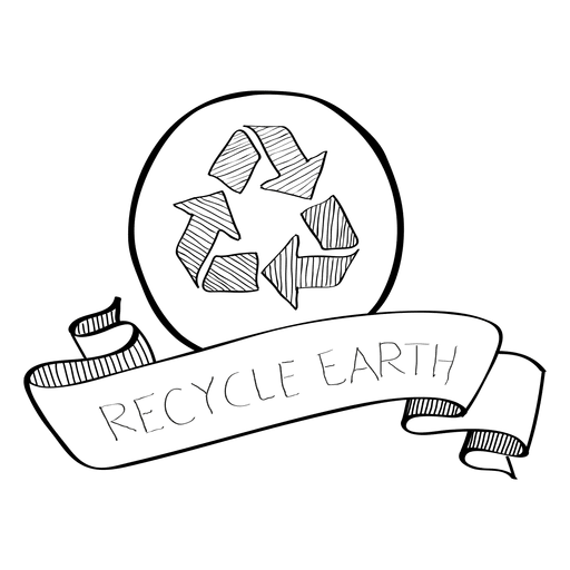 clip art free stock Recycle earth doodle ribbon