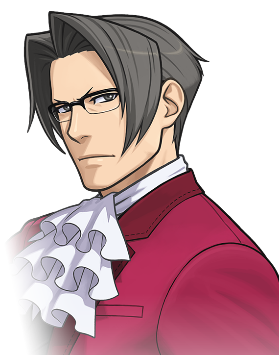 vector black and white download Miles Edgeworth