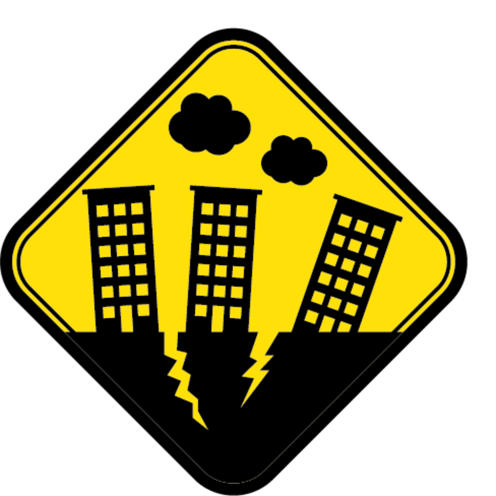 black and white download Earthquake warning system Clip art
