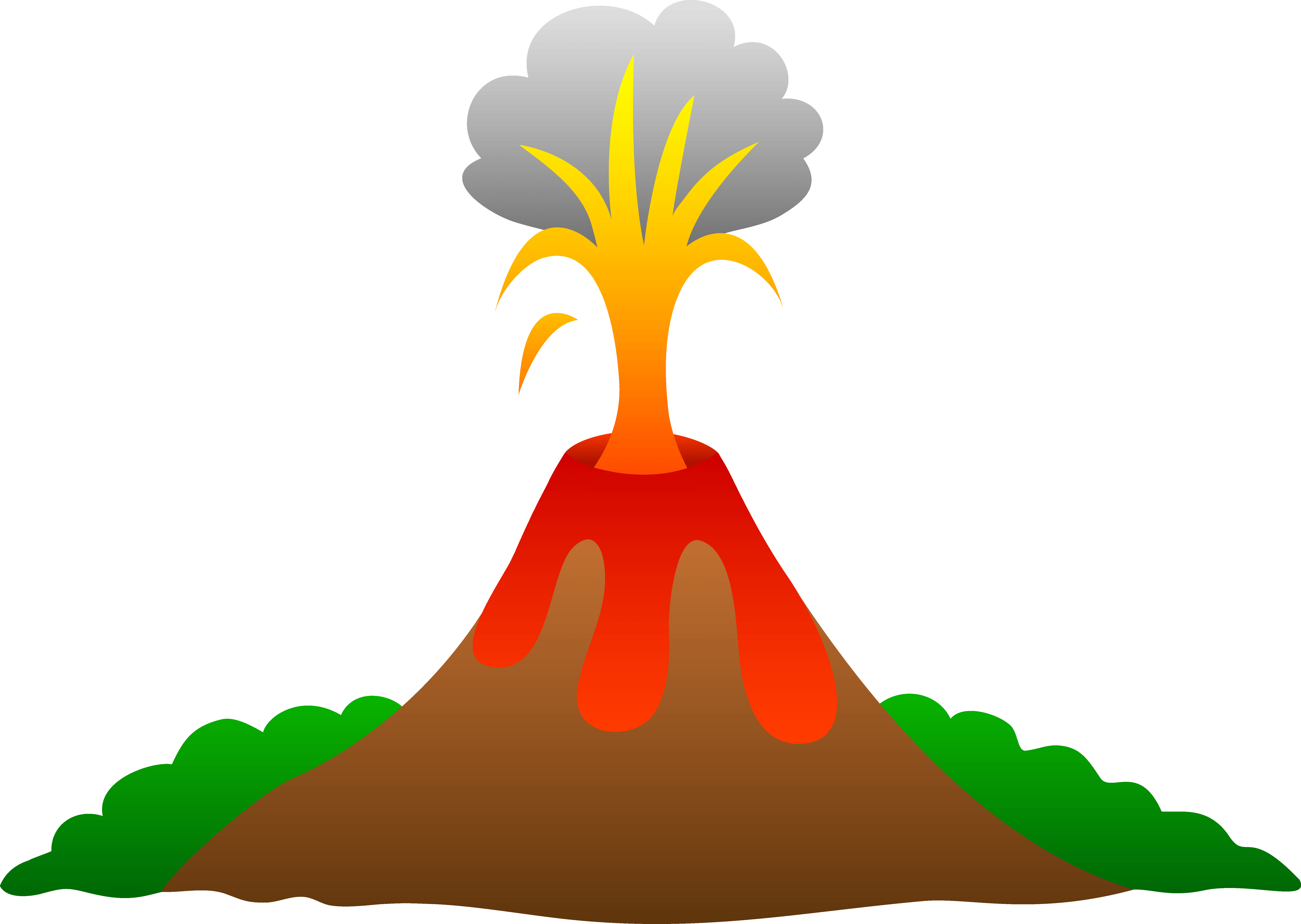 graphic free library Volcanoes for facts eruption. Kids stretching clipart