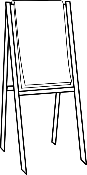clipart royalty free library Black and white clip. Easel clipart.