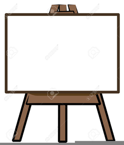 image library Free images at clker. Art easel clipart.