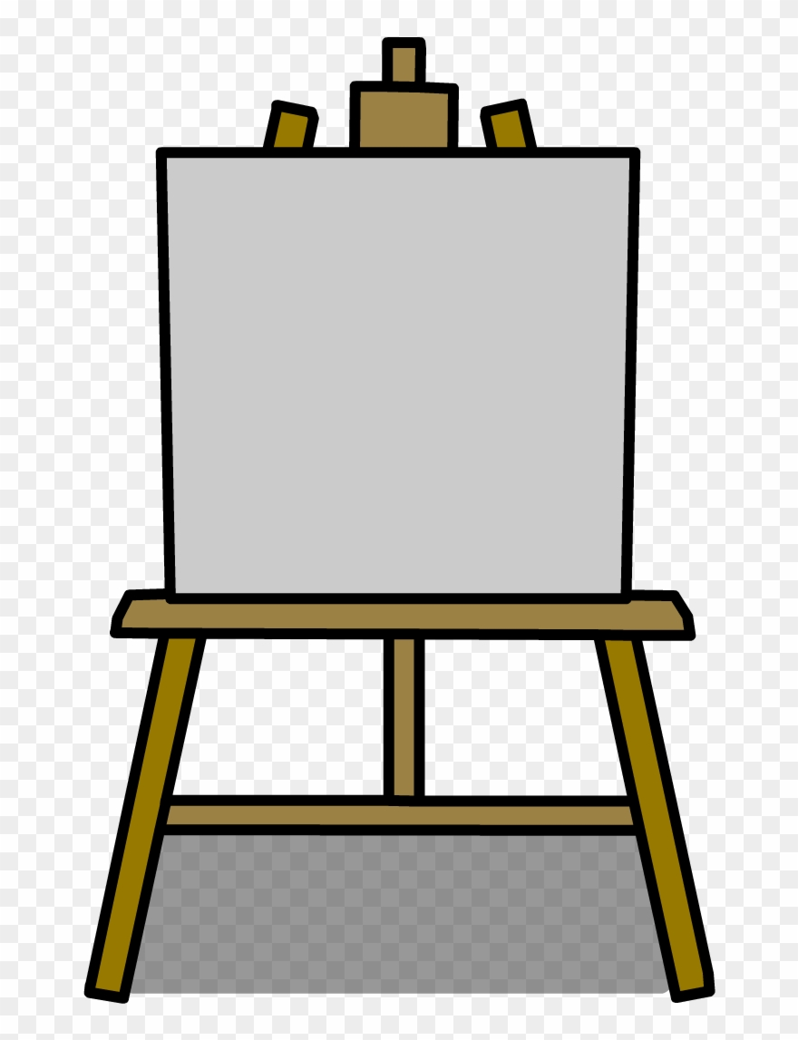 clip art black and white library Easel clipart. Poster art png .