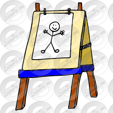 clipart transparent stock Easel clipart. Picture for classroom therapy.