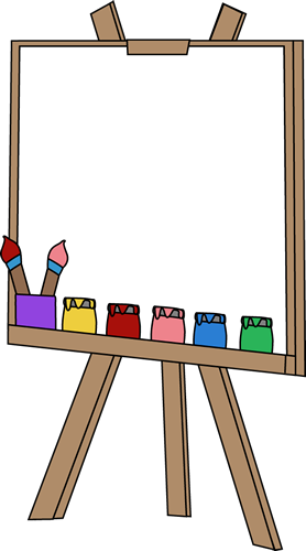 png black and white download Blank paint clip image. Art easel clipart.